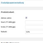 Definition eines Rabattes innerhalb eines Produktes im wpShopGermany WordPress Shop Plugin System