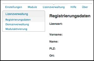 Registrierungsdaten