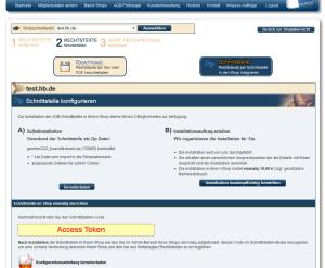 Api Key im Inteface vom Händlerbund für das wpShopGermany WordPress Shop Plugin