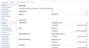 """Konfiguration des Händlerbundes innerhalb des wpShopGermany Moduls """"Händlerbund"""""""