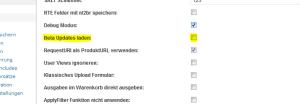 Aktivierung der BETA Updates im wpShopGermany WordPress Shop Plugin