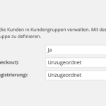 Konfiguration der Kundengruppen im deutschen wpShopGermany WordPress Shop Plugin System.