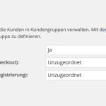 Konfiguration der Kundengruppen im deutschen wpShopGermany WordPress Shop Plugin System.