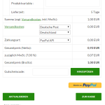Login mit PayPal (PayPal Express) im Warenkorb des wpShopGermany WordPress Shop Systems