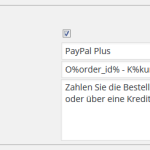 Integration von PayPal PLUS im wpShopGermany WordPress Shop Plugin System